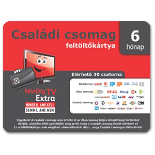 Mindigtv Extra Családi csomag 6 hónapos feltöltő kártya