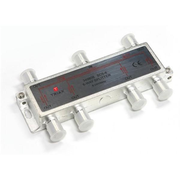 6-os osztó iránycsatolt Triax SCS-6, 6-way splitter, 5-2400