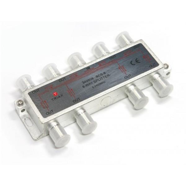 8-as osztó, iránycsatolt Triax SCS-8, 8 way splitter, 5-2400